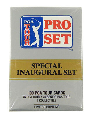Lot of (26) 1990 Pro Set PGA Tour Inaugural Trading Card Factory Sets (100)