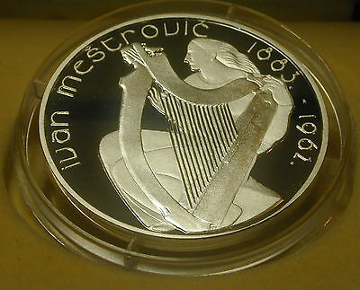 Ireland 15 Euro Silver Proof Coin. Ivan Mestrovic  2007. Free Shipping.