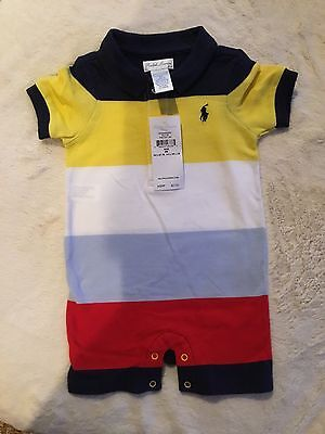 Ralph Lauren Baby Boy's One Piece Outfit Size 6 Months NWT Striped