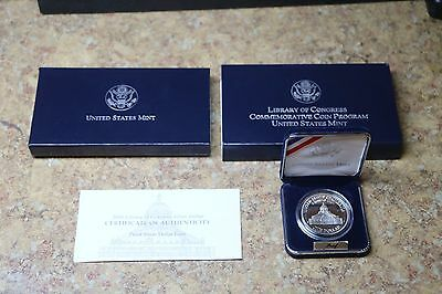 2000 Library of Congress Proof Silver Dollar w/ box & COA FREE SHIPPING