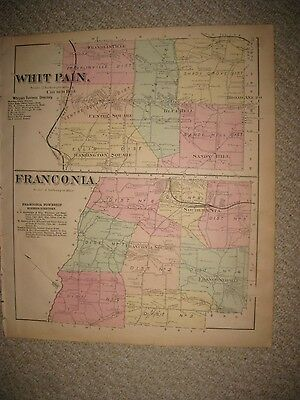 Antique 1871 Whitpain Franconia Township Montgomery County Pennsylvania Map Rare