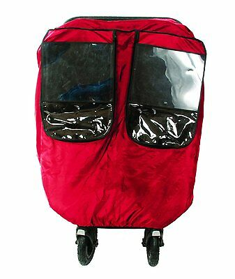 Comfy Baby Universal Deluxe Twin Stroller Weather Protector, Red 242621