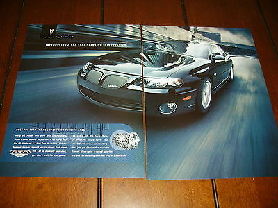 2004 Pontiac Gto   ***original 2 Page Ad*** Introducing