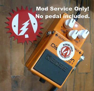 Modify your Boss DS-1 Distortion! Mod service Only (No Pedal)! Alchemy Audio.