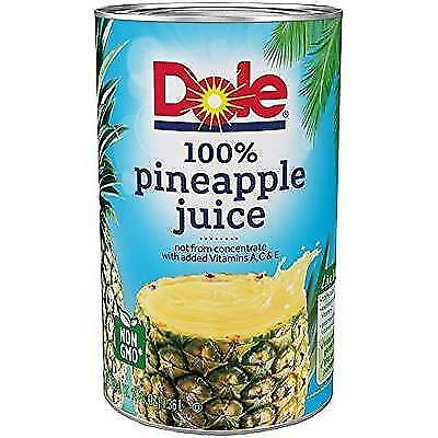 Dole Pineapple Juice, 46 Ounce (Pack of 6) New