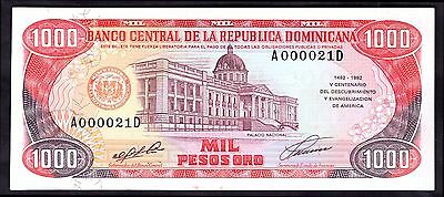 Dominican Republic. 1,000 Pesos, A000021D. Columbus commem, 1492-1992, GEF/AU.