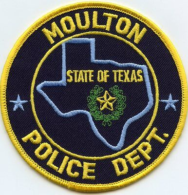 Moulton Texas Tx Police Patch