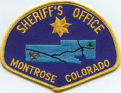 MONTROSE COUNTY COLORADO CO Sheriff's Office SHERIFF POLICE PATCH