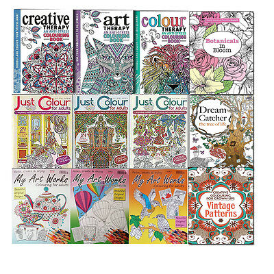 Joblots Wholesale of 25 Colouring Books Collection Set Art Therapy Colouring NEW