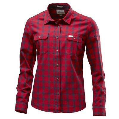 Lundhags Flanell WS Shirt red Damen Langarm-Flannel-Hemd Outdoor Baumwolle