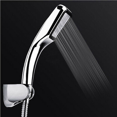 New 300 Holes Square Shower Heads Bathroom Pressure Boost Handheld Shower Nozzle