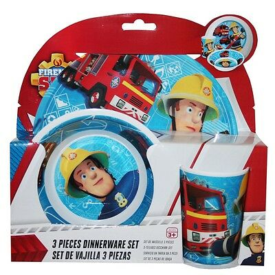 Fireman Sam - Set Tableware - Dinnerware Set - Plate, Bowl, SW Tumbler