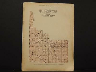 Wisconsin, Trempealeau County Map North Part 1930 Y8#01