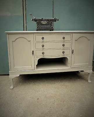 Fine quality repainted Antique sideboard - Farrow and ball french grey