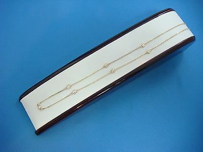"0.65 Ct 7 Stations ""diamonds By The Yard"" 14K Yellow Gold Necklace, 18 Inch Long"