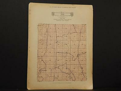 Wisconsin, Trempealeau County Map West Part of Hale Township 1930 Y8#08