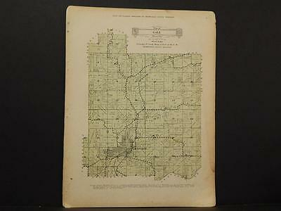Wisconsin, Trempealeau County Map West Part of Gale Township 1930 Y8#10