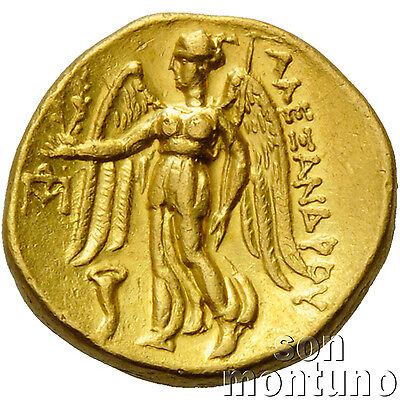 ALEXANDER THE GREAT - Ancient Greek/Macedonian Gold Coin STATER 336-323 BC VF-EF
