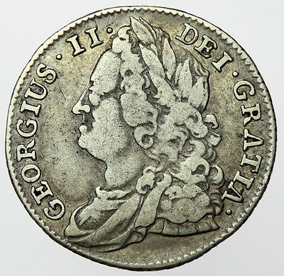 1743 Sixpence George II ~ Roses in Angles