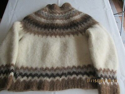 Iceland, Child's Pullover Hand Knitted Sweater, 100 % Wool