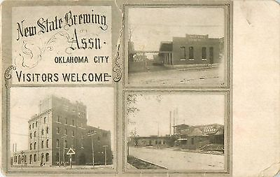c1905 New State Brewing Association Brewery, Oklahoma City, OK Postcard