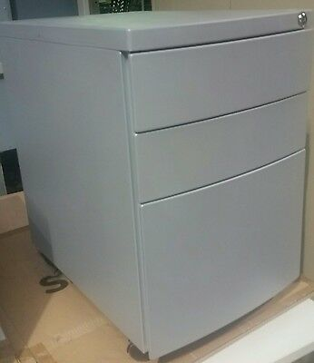 Bosco Under Desk Pedestal Mobile Filing Storage Metal Cabinet Office Furniture