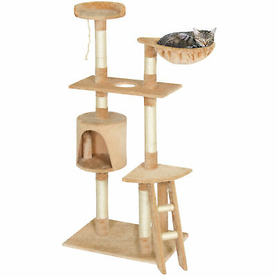 "Pet Play House 59"" Cat Tree Scratcher Condo Furniture, Beige"
