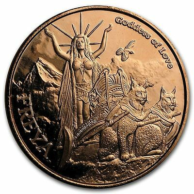 Norse Gods Series Freya - Valkyrie 1 oz .999 Copper BU Round USA Bullion Coin
