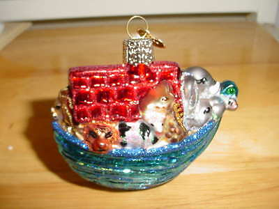 Old World Christmas Ornament - Noah's Ark  - No Box
