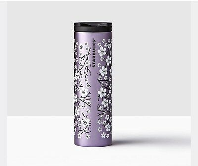 Starbucks Cherry Blossom Purple 2017 Stainless Steel Tumbler Limited Ed SOLD OUT