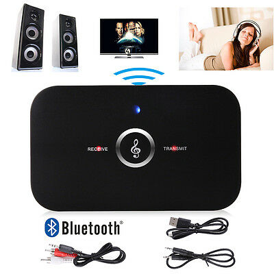 2 in1 Wireless Bluetooth Audio Transmitter Receiver 3.5mm AUX RCA Music Adapter