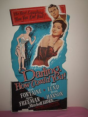 RARE! 1951 5' Movie Standee DARLING HOW COULD YOU Joan Fontaine POSTER