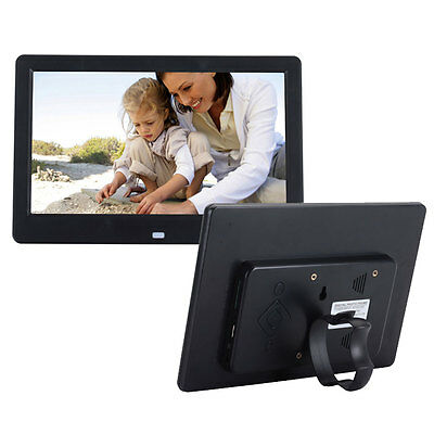 """New 10.1"""" Digital Photo Picture Frame Video Music Player + US Charger Black"""