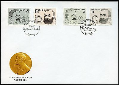 Sweden & Switzerland 1997 Combo Nobel Prize Joint Issue Fdc