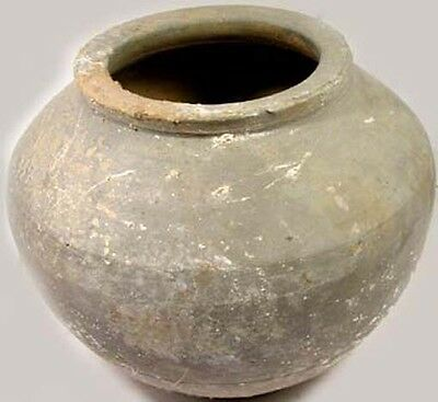 Ancient China Han Dynasty Superb Wheel Turned Large Earthenware Clay Jar 200BC