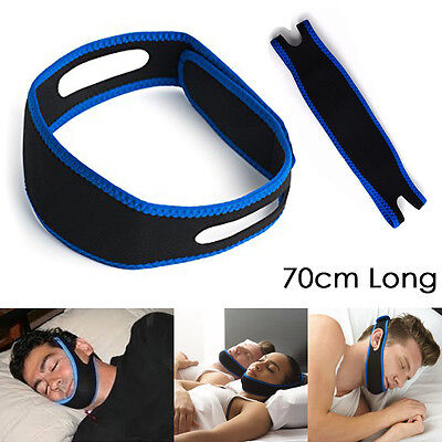 1Pcs Anti Snoring Solution Chin Strap Belt Stop Snore Device Jaw Support Safe UK