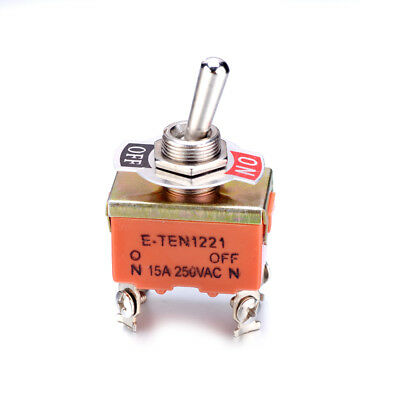1pcs 250V 15A KN1221 4 Pins ON-OFF Car Toggle Switch Double Pole Single Throw