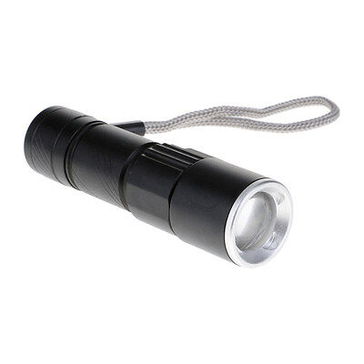 Mini Pocket Zoomable USB Rechargeable LED Flashlight Torch Lamp Camping Hiking