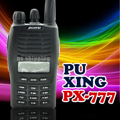 1 PuXing PX-777 VHF 136-174MHz Transceiver Walkie Talk Radio Transmitter Receive