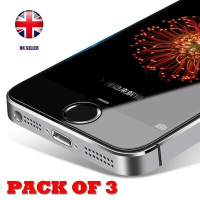 Pack Of 3 Real Tempered Glass Screen Protector Film For Iphone 5 5S Se 5C