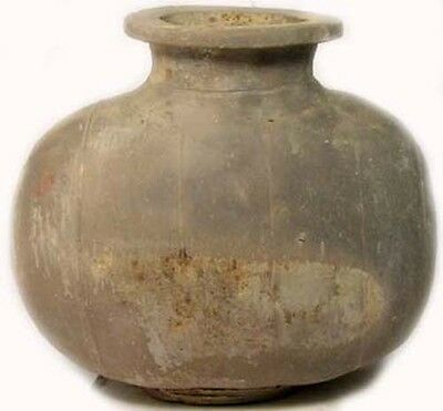 Han China Cocoon Wine Hu Ancient Earthenware Pottery Storage Decanter Jar BC200