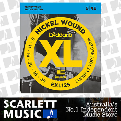D'Addario EXL125 Super Light Reg Bottom Electric Strings 9-46 Daddario EX-125