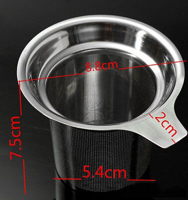 Stainless Steel Mesh Loose Tea strainer Non-toxic Extra Fine Handle Filter