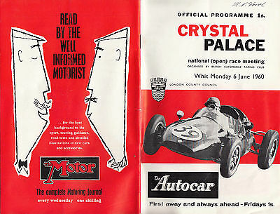 Crystal Palace Whit Monday 6 June 1960 Programme, Enveolpe & Other Paper Work.