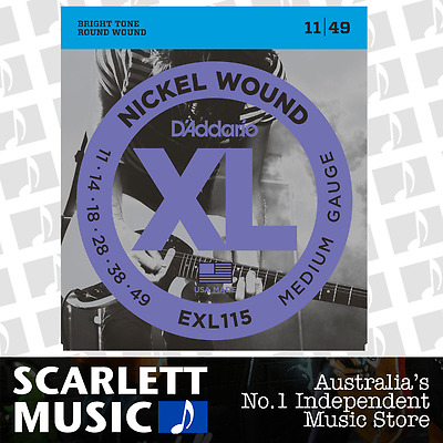 D'Addario EXL115 Medium Blues/Jazz Electric Strings 11-49 Daddario EXL-115