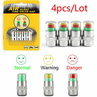 4pcs/Lot 2.4 Bar Car Auto Tire Pressure Monitor Valve Stem Cap Sensor Indicator