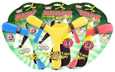Wicked Junior Booma foam tri blade boomerang frisbee flight range of 1-3 metres