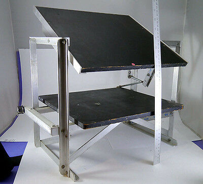 Twin Projector stand for 3d stereo projection - by NSA Projectionist W. Duggan