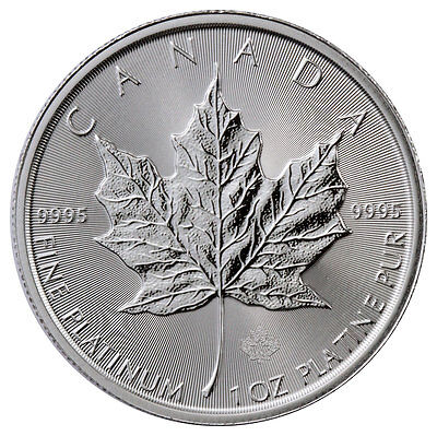 2017 Canada 1 Troy oz. .9995 Fine Platinum Maple Leaf $50 BU SKU45622
