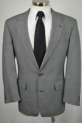 (42R) Brooks Brothers Men's Gray Wool Classic Pleated Front 2 Piece Suit (33x30)